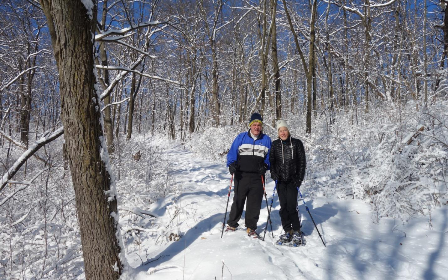 Snowshoeing at Greens Coulee