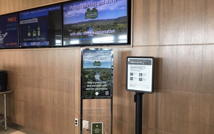 Coins for Conservation at La Crosse Airport